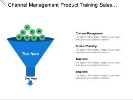 Channel Management Product Training Sales Training Sales Operations