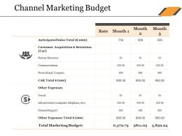 Channel Marketing Budget Ppt Design Ideas