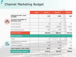 Channel Marketing Budget Ppt Slides Pictures