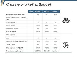 Channel Marketing Budget Ppt Summary
