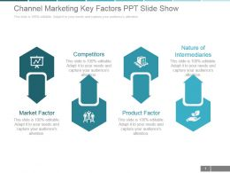 Channel Marketing Key Factors Ppt Slide Show