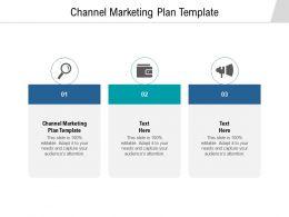 Channel Marketing Plan Template Ppt Powerpoint Presentation Portfolio Slides Cpb