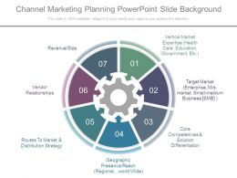 Channel Marketing Planning Powerpoint Slide Background