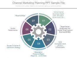 Channel Marketing Planning Ppt Sample File