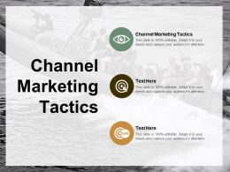 Channel Marketing Tactics Ppt Powerpoint Presentation Gallery Designs Cpb