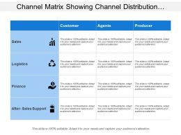 Channel Matrix Showing Channel Distribution With Sales Logistics And Finance