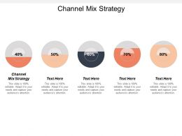 Channel Mix Strategy Ppt Powerpoint Presentation File Brochure Cpb