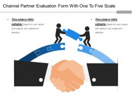 Channel Partner Evaluation Form With One To Five Scale
