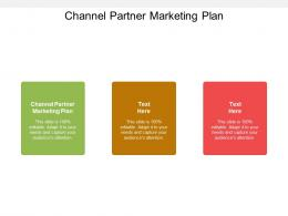 Channel Partner Marketing Plan Ppt Powerpoint Presentation Show Brochure Cpb