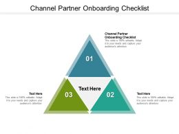 Channel Partner Onboarding Plan Ppt Powerpoint Presentation Visual Aids Summary Cpb