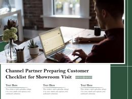 Channel Partner Preparing Customer Checklist For Showroom Visit