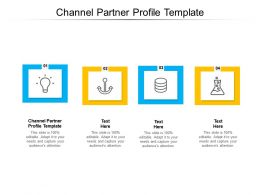 Channel Partner Profile Template Ppt Powerpoint Presentation Gallery Visuals Cpb