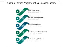 Channel Partner Program Critical Success Factors