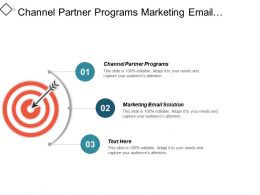 Channel Partner Programs Marketing Email Solution Promotion Marketing System Cpb