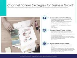 Channel Partner Strategies For Business Growth