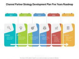 Channel Partner Strategy Development Plan Five Years Roadmap