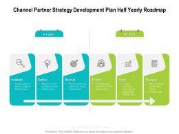 Channel Partner Strategy Development Plan Half Yearly Roadmap