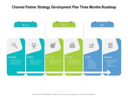 Channel Partner Strategy Development Plan Three Months Roadmap