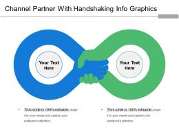 Channel Partner With Handshaking Info Graphics