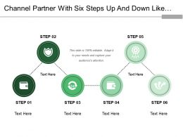 Channel Partner With Six Steps Up And Down Like Waves