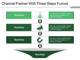 Channel Partner With Three Steps Funnel