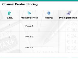 Channel Product Pricing Powerpoint Slides