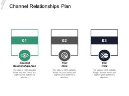 Channel Relationships Plan Ppt Powerpoint Presentation Infographics Brochure Cpb
