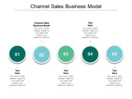 Channel Sales Business Model Ppt Powerpoint Presentation Styles Inspiration Cpb