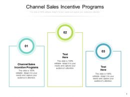 Channel Sales Incentive Programs Ppt Powerpoint Presentation Portfolio Smartart Cpb
