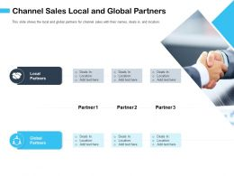 Channel Sales Local And Global Partners Add Text Ppt Powerpoint Presentation Infographics Format