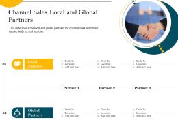 Channel Sales Local And Global Partners Deals In Ppt Powerpoint Presentation File Gallery