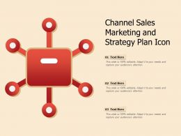 Channel Sales Marketing And Strategy Plan Icon