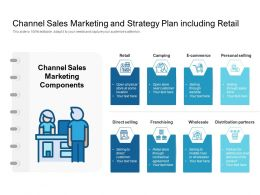 Channel Sales Marketing And Strategy Plan Including Retail