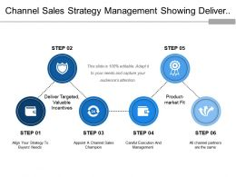 Channel Sales Strategy Management Showing Deliver Target Product Market Fir