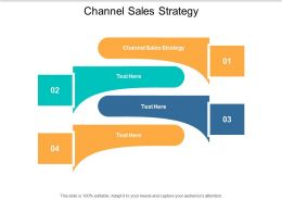 Channel Sales Strategy Ppt Powerpoint Presentation Infographic Template Slide Cpb