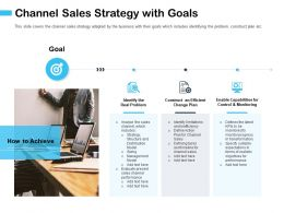 Channel Sales Strategy With Goals And Timeline Ppt Powerpoint Presentation Outline Graphics
