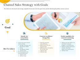Channel Sales Strategy With Goals In Terms Ppt Powerpoint Presentation File Slide Download