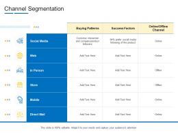 Channel Segmentation Product Channel Segmentation Ppt Pictures