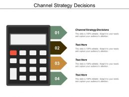 Channel Strategy Decisions Ppt Powerpoint Presentation Professional Design Inspiration Cpb