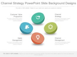 Channel Strategy Powerpoint Slide Background Design