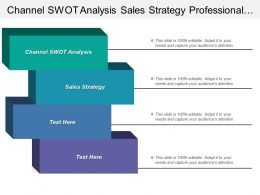Channel Swot Analysis Sales Strategy Professional Services Automation