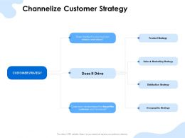 Channelize Customer Strategy Distribution Ppt Powerpoint Presentation Slides Aids