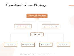 Channelize Customer Strategy Ppt Powerpoint Presentation Slides Graphics Template