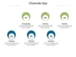 Channels App Ppt Powerpoint Presentation Professional Backgrounds Cpb