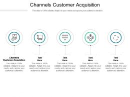 Channels Customer Acquisition Ppt Powerpoint Presentation Slides Sample Cpb