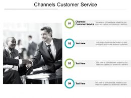 Channels Customer Service Ppt Powerpoint Presentation Infographic Template Images Cpb