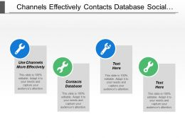 Channels Effectively Contacts Database Social Media General Sessions