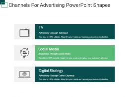 Channels For Advertising Powerpoint Shapes