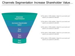 Channels Segmentation Increase Shareholder Value Manage Partner Community