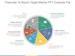 Channels To Reach Target Market Ppt Example File